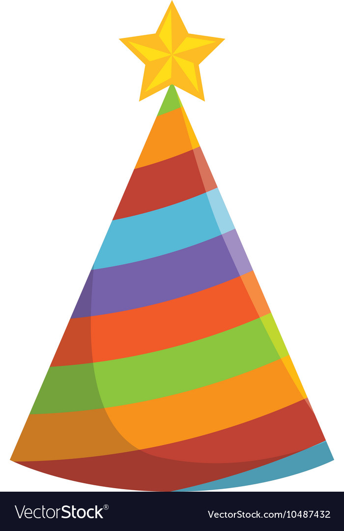 Hat party colorful accessory vector image