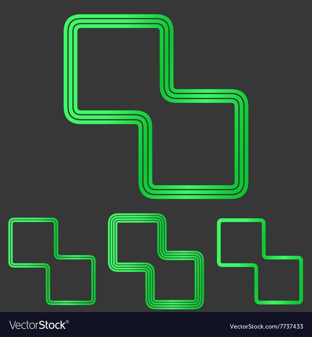 abstract technology emblem sign logo