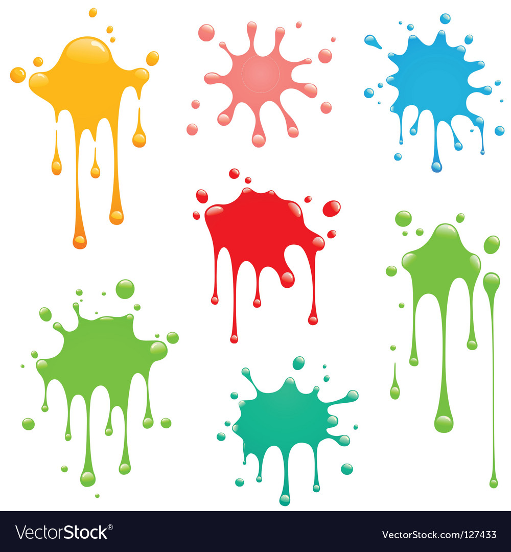 Splash set vector image