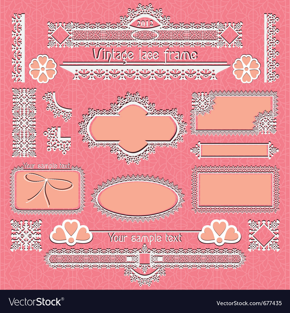 Vintage framed ornate labels vector image
