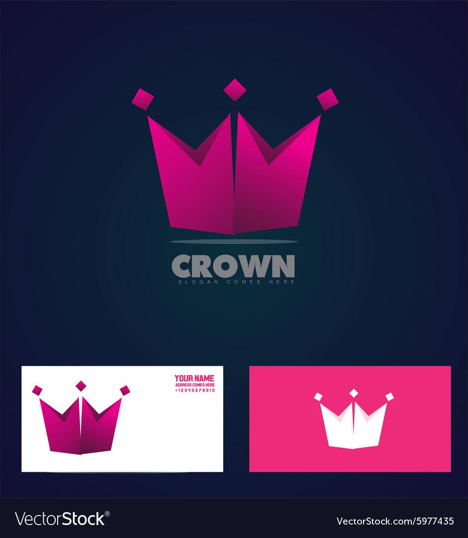 King crown logo icon company vector image