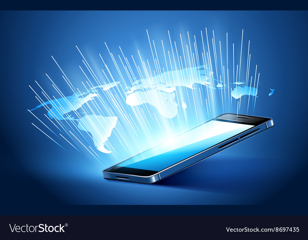 Modern mobile technology vector image