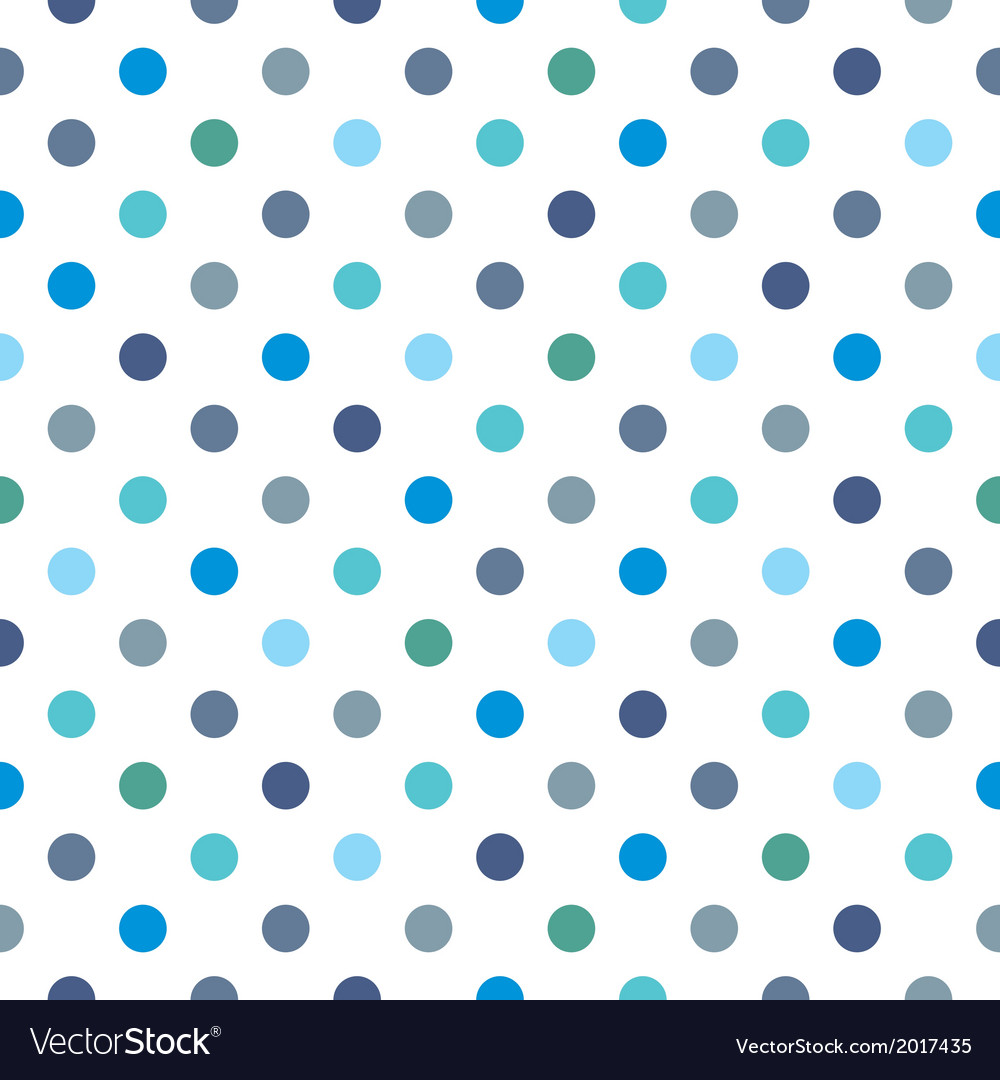 Seamless pattern blue polka dots background vector image