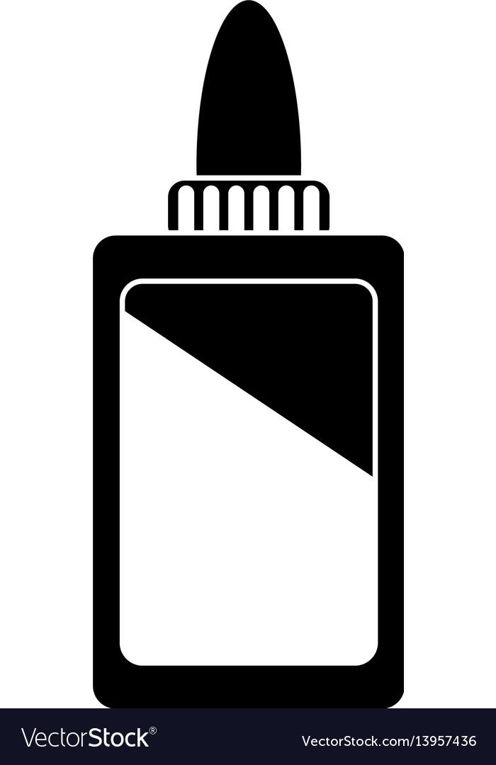 Bottle glue school pictogram vector image