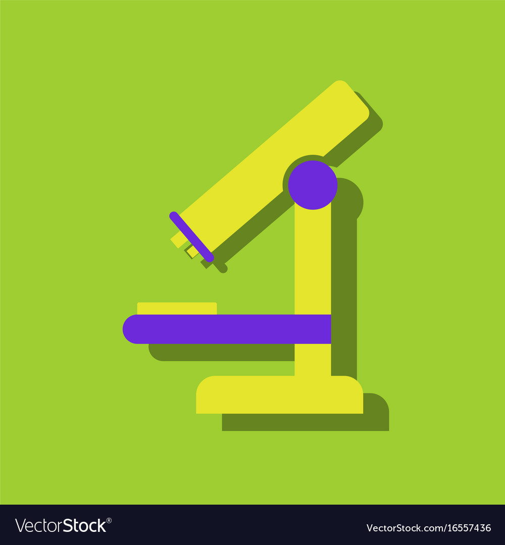 Flat icon design collection medical microscope in