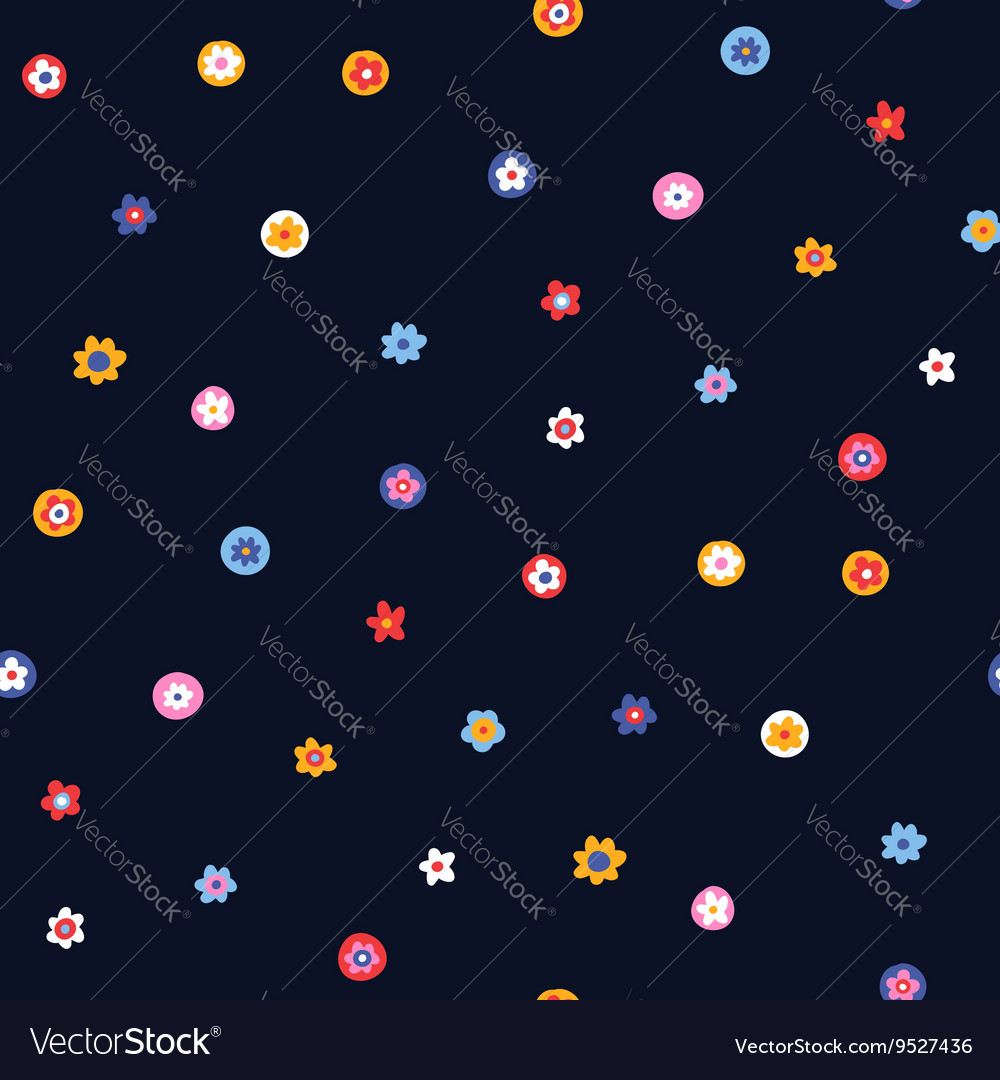 Pattern floral simple vector image