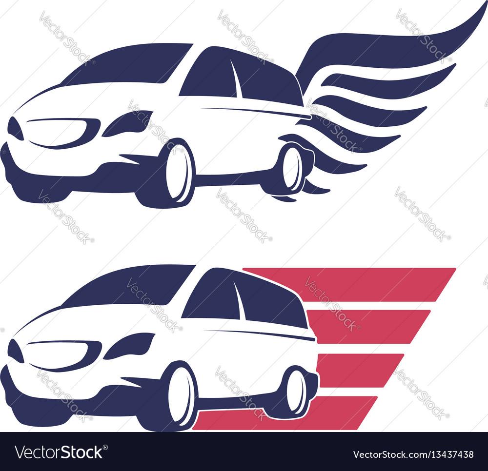 Minivan cargo delivery vector image