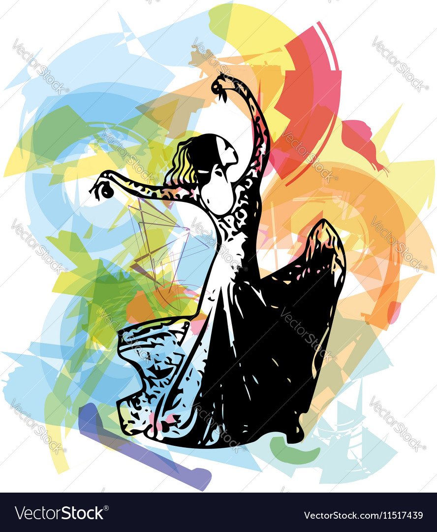 Flamenco woman dancer vector image