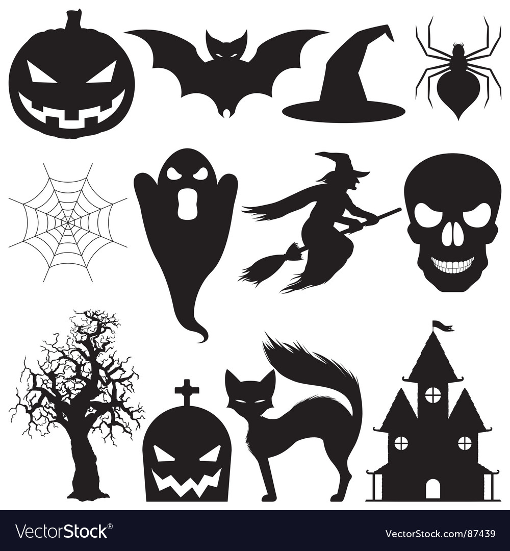 halloween elements royalty free vector image vectorstock