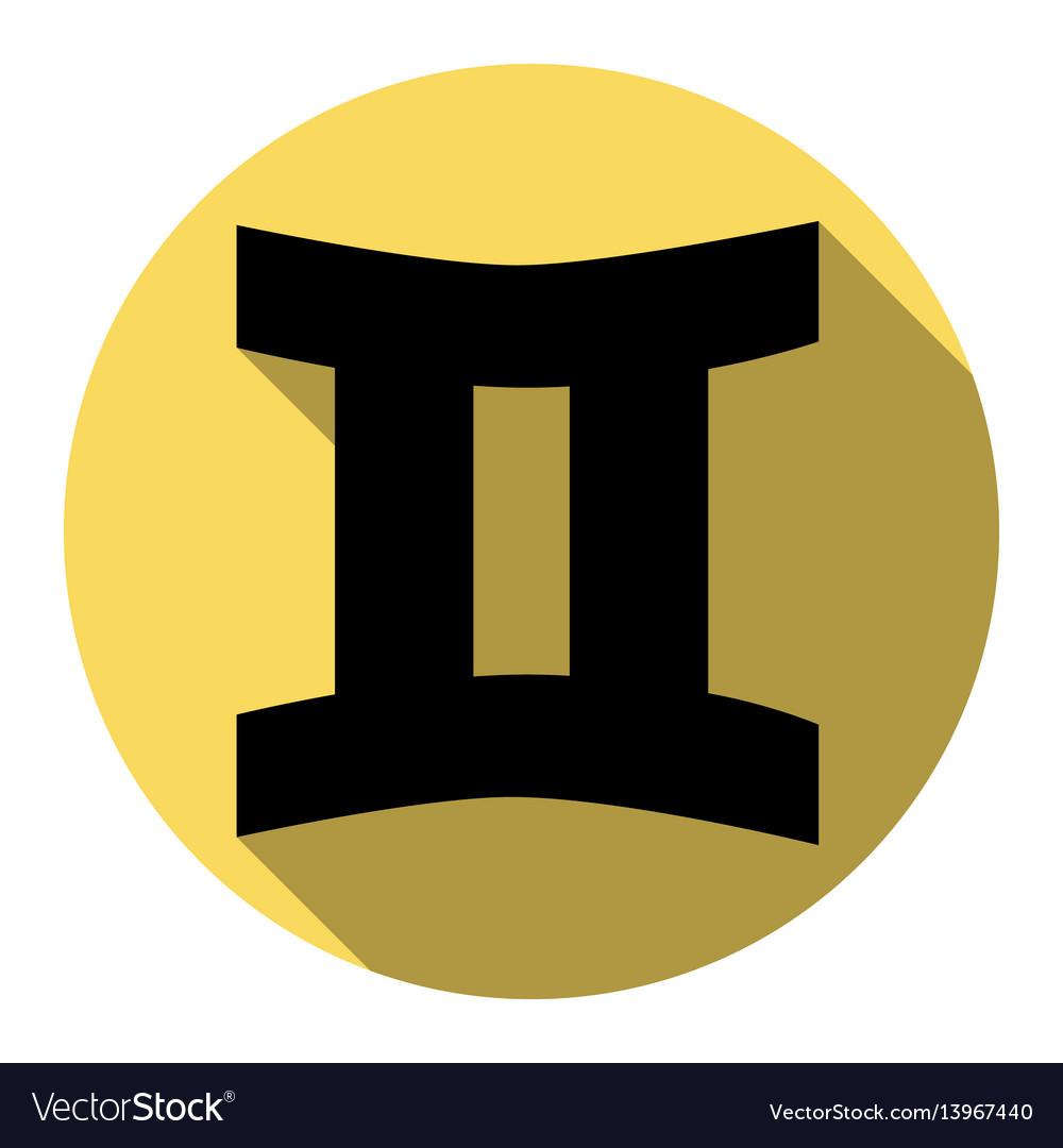 Gemini sign flat black icon with flat royalty free vector gemini sign flat black icon with flat vector image buycottarizona