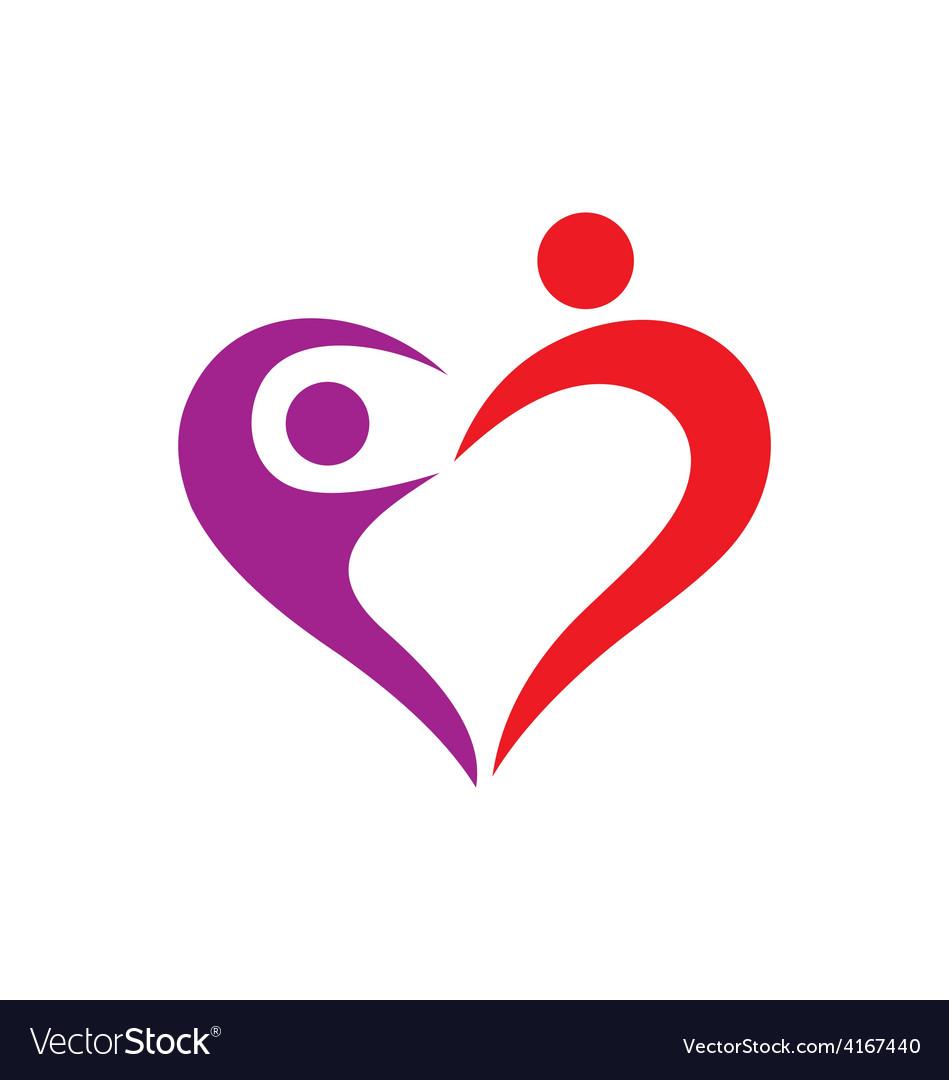heart love couple logo royalty free vector image