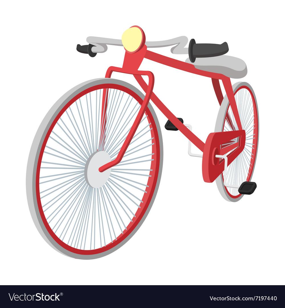 Hipster bike vintage cartoon icon vector image