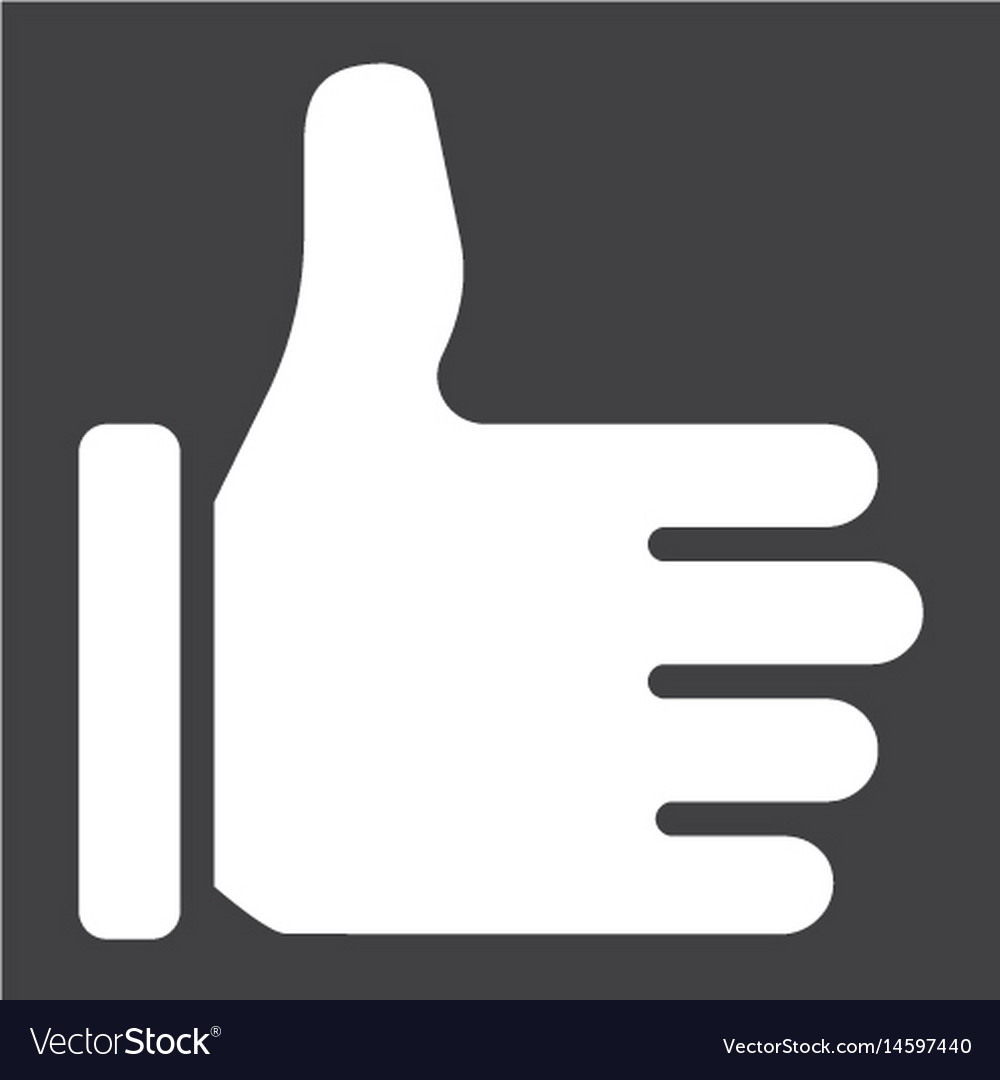 Like solid icon social media and website vector image