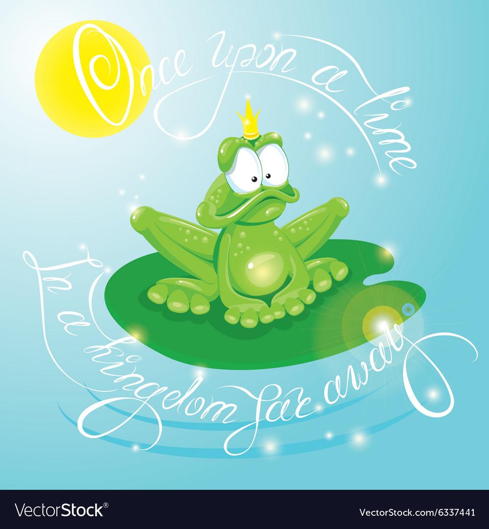 Frog calligraphy 380 vector image