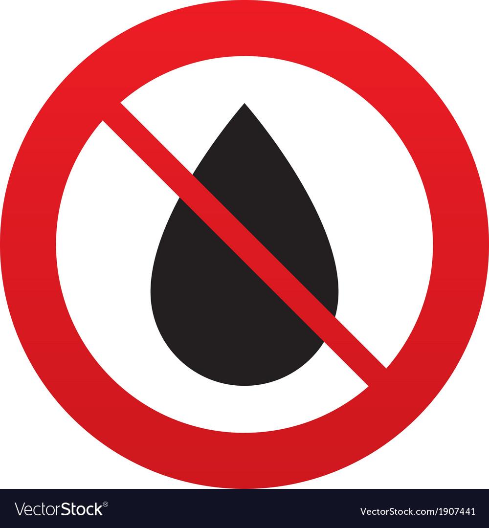 No water drop sign icon tear symbol royalty free vector