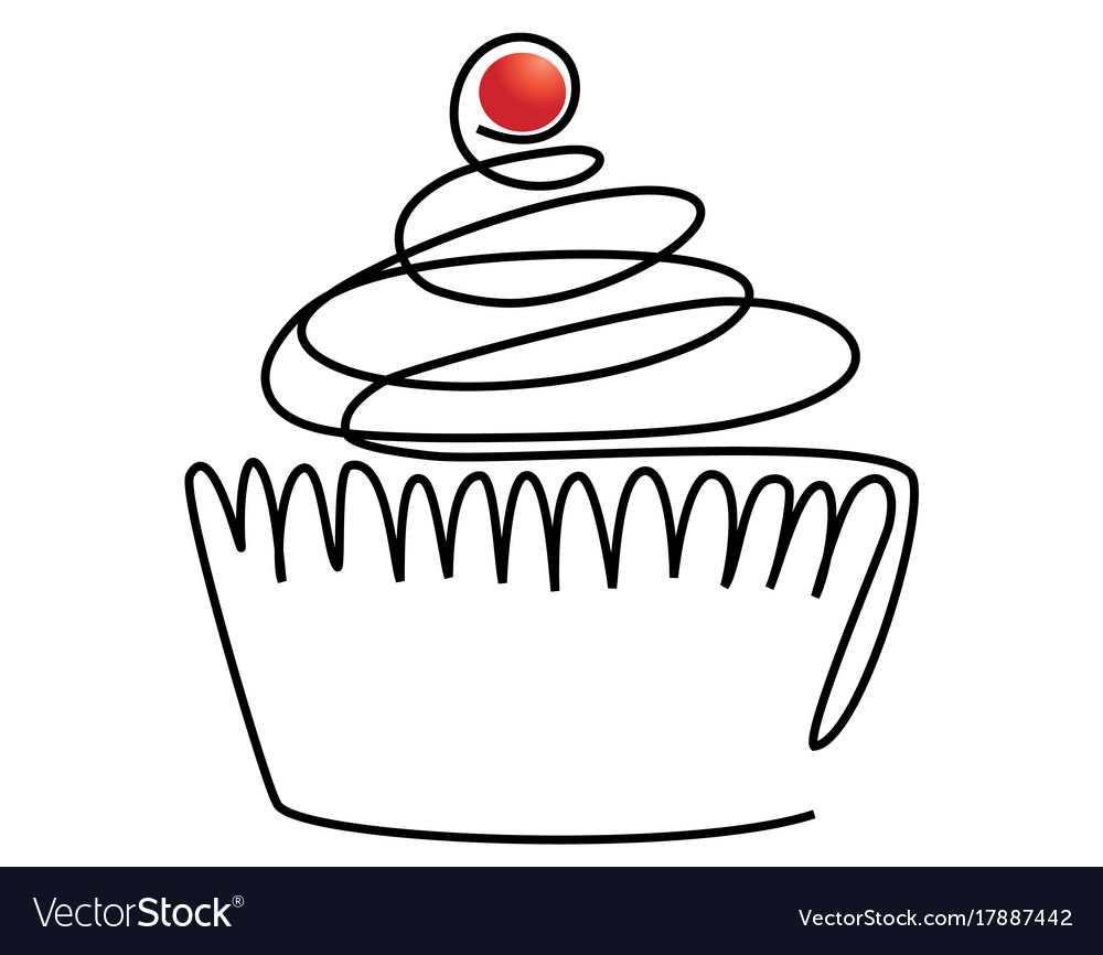 Sweet line cake vector image