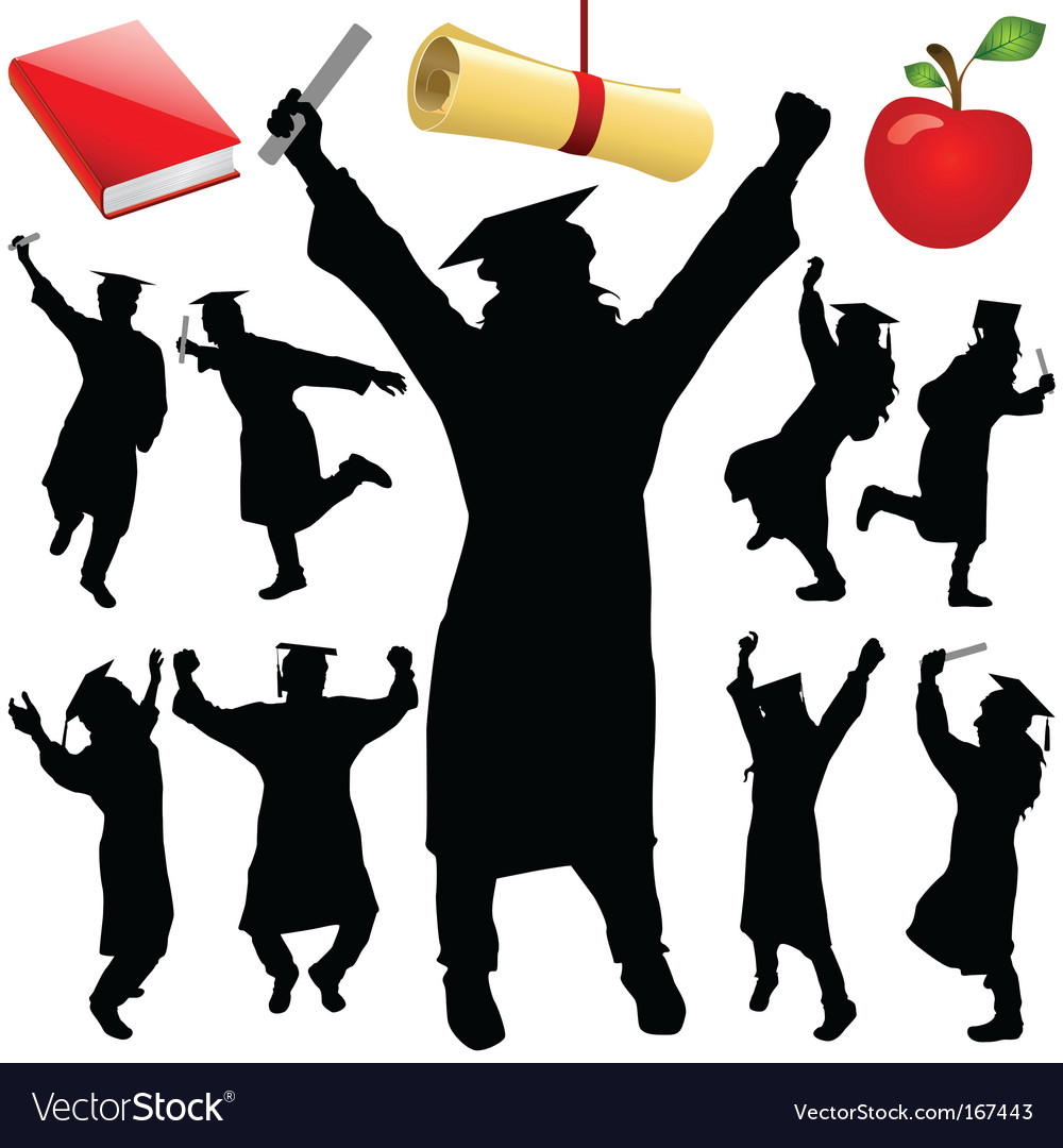 Graduation set vector image