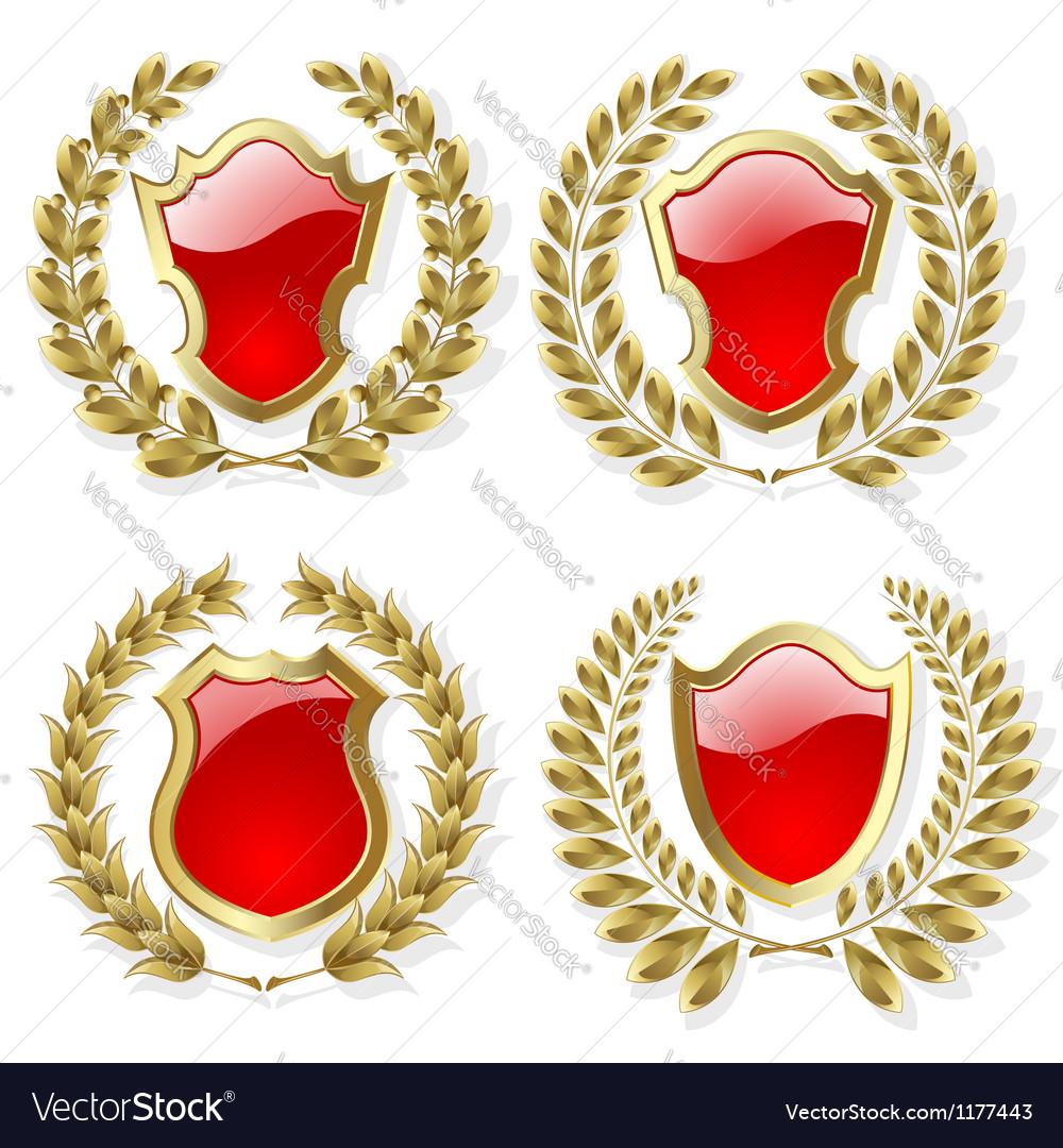 Set of heraldic elements vector image