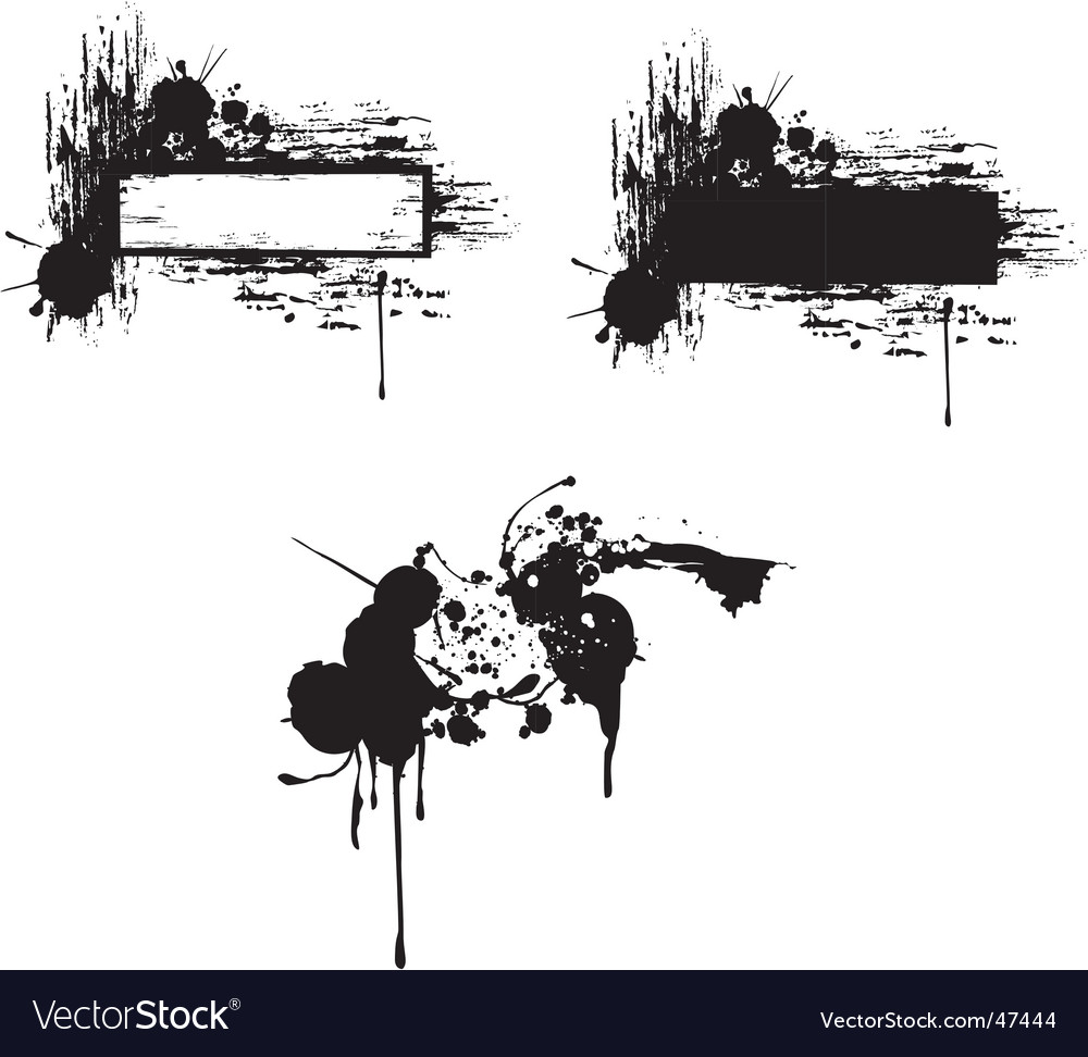 Grungy copy-space vector image
