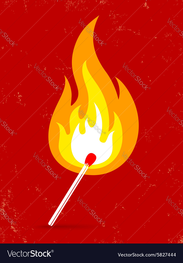 Match fire vector image