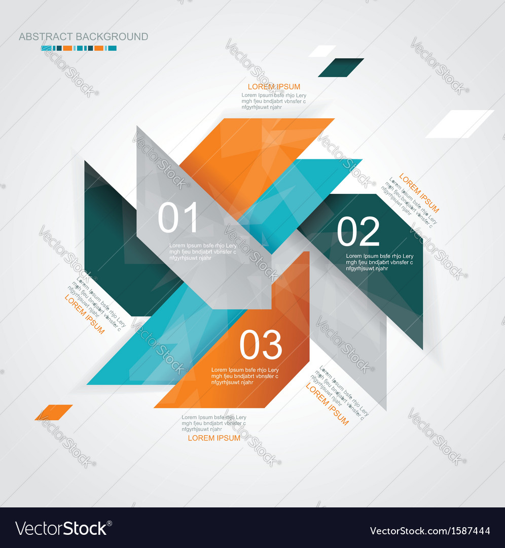 Modern infographics template style vector image