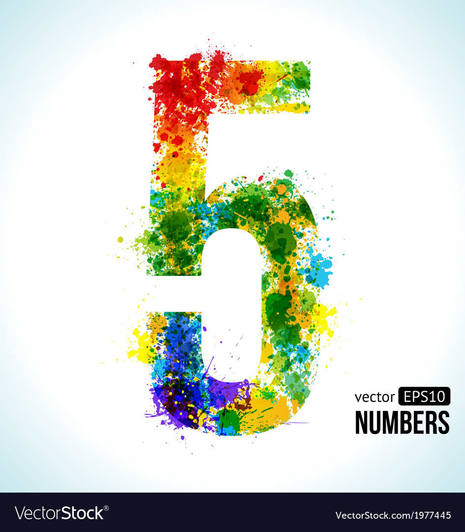 Rainbow, Paint & Numbers Vector Images (36)