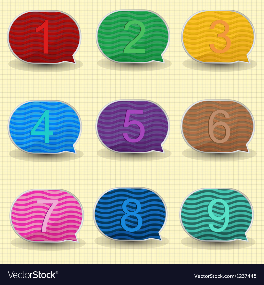 Number bubble vector image