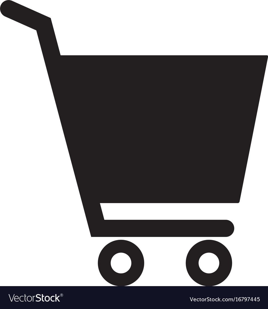 Shopping cart icon on white background flat style vector image