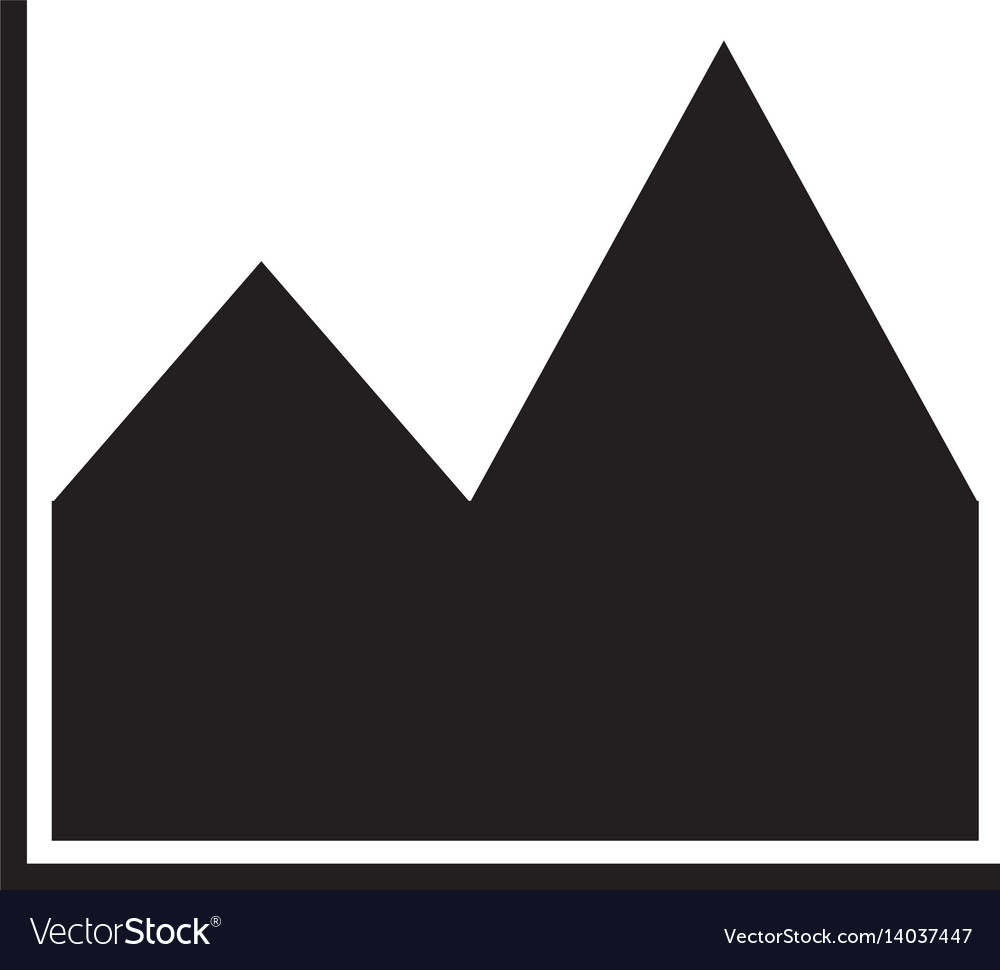 Chart icon on white background chart icon sign vector image