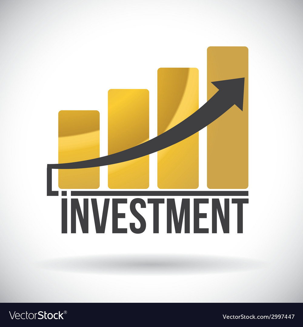 Investment design vector image