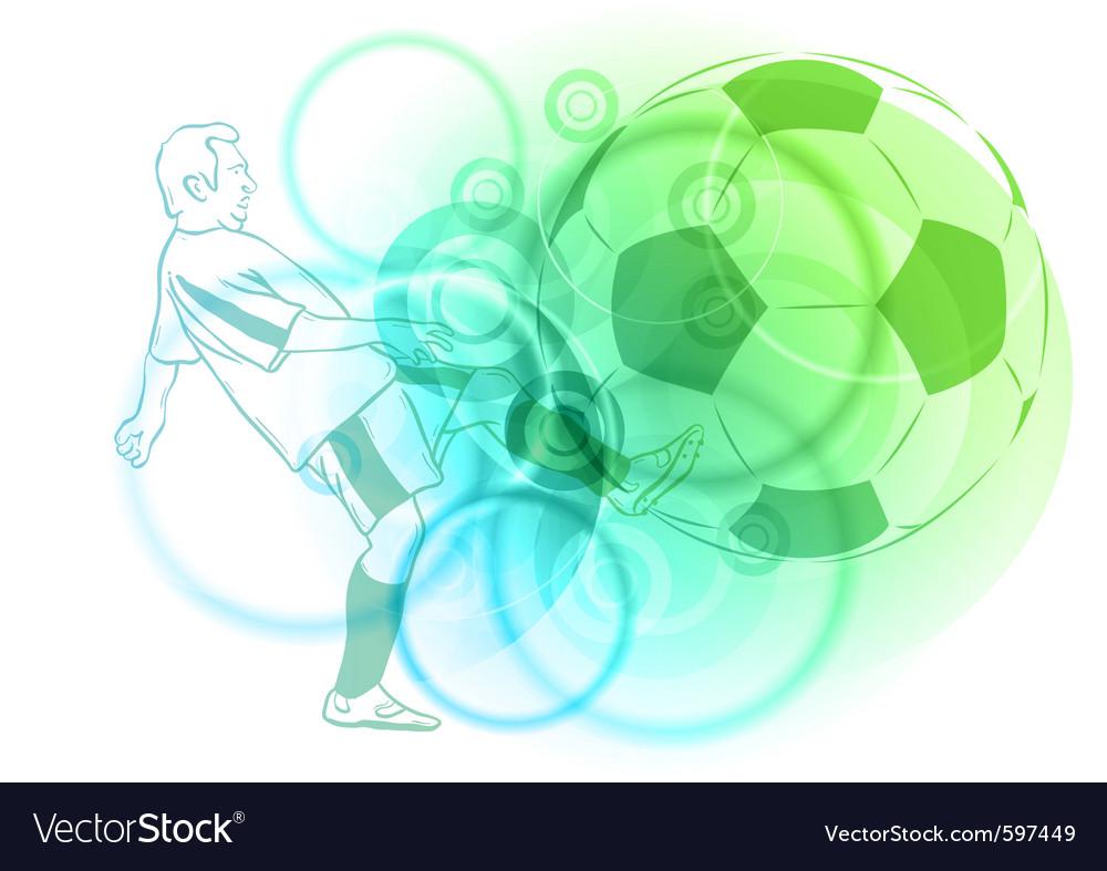 Pastel football vector image