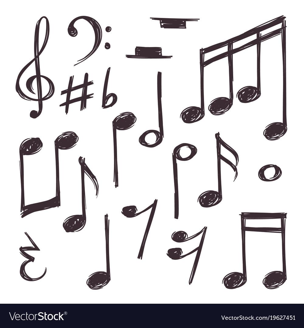 Hand drawn music note musical symbols royalty free vector hand drawn music note musical symbols vector image buycottarizona Gallery