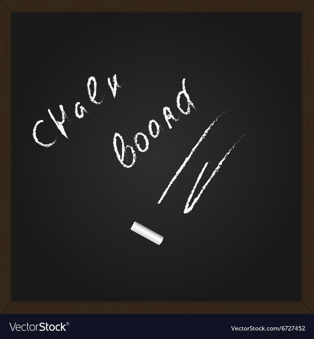 Chalk board vector image