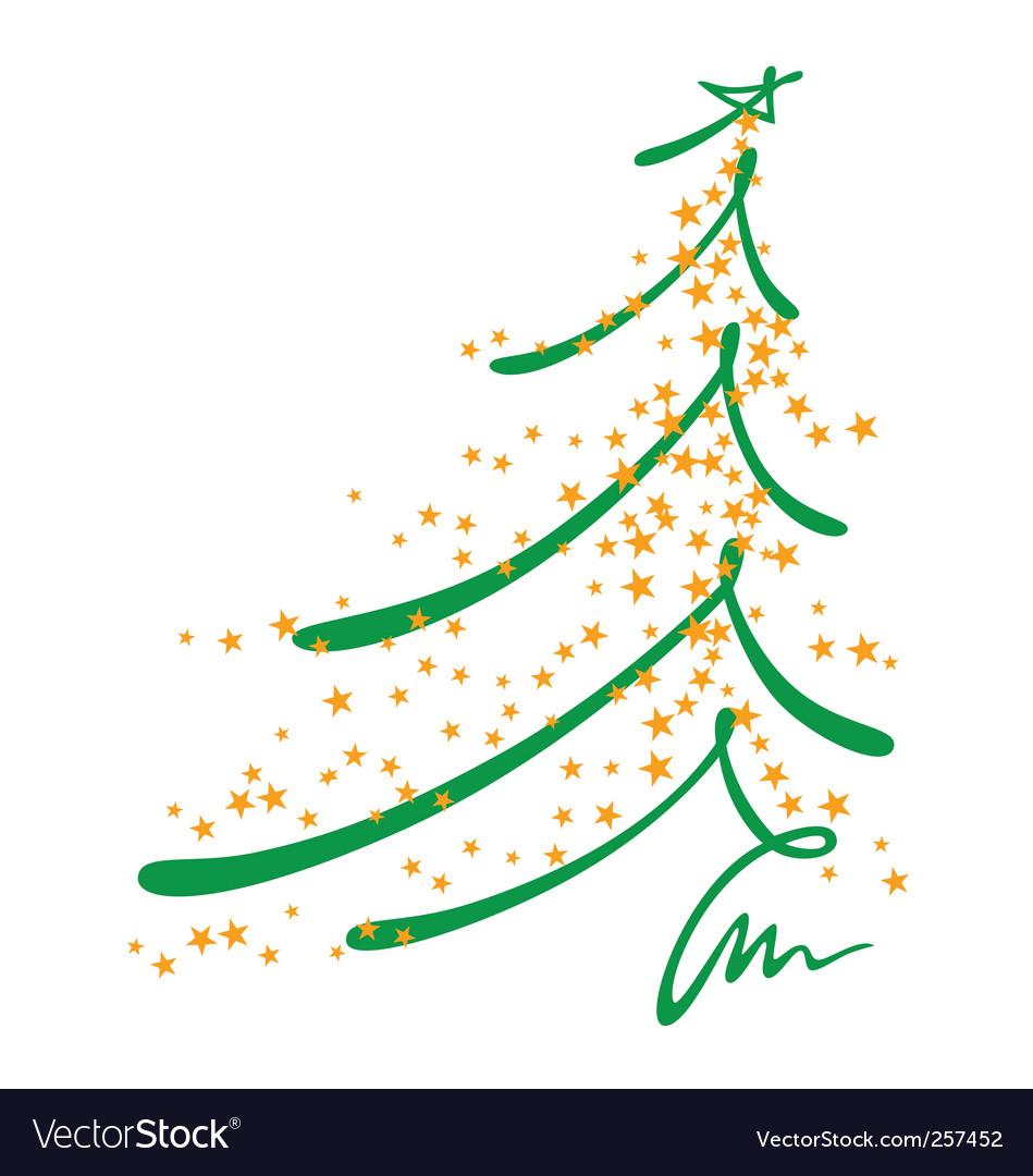 Christmas tree sketch vector image