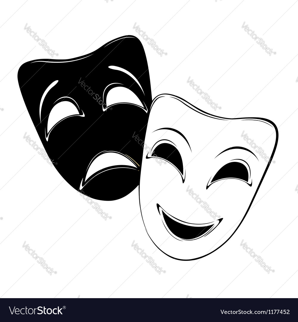 Theatrical mask vector image