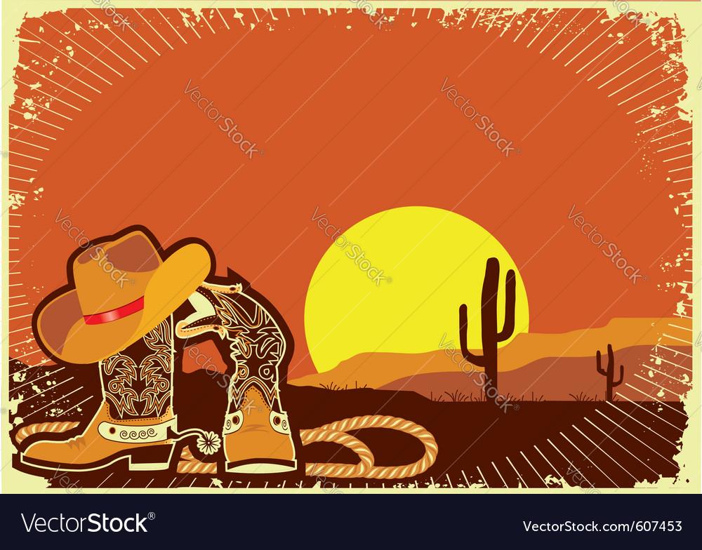 Cowboys elements vector image