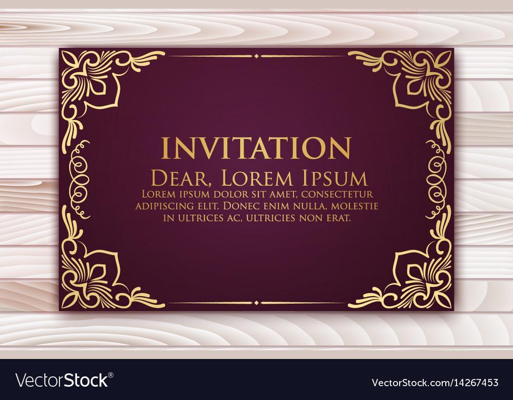 Invitation cards with ethnic arabesque elements vector image invitation cards with ethnic arabesque elements vector image stopboris Image collections