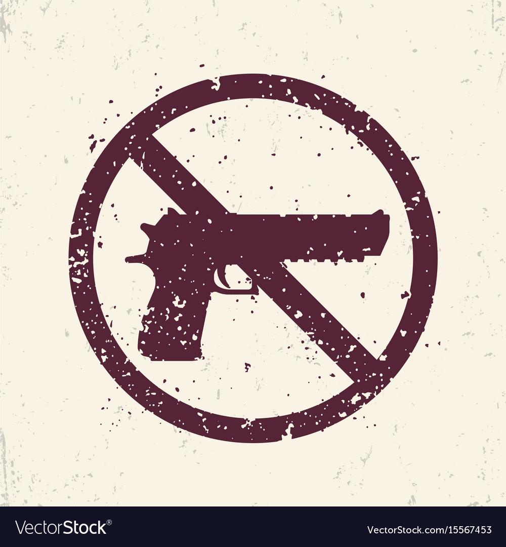 No guns sign with pistol handgun silhouette vector image no guns sign with pistol handgun silhouette vector image buycottarizona