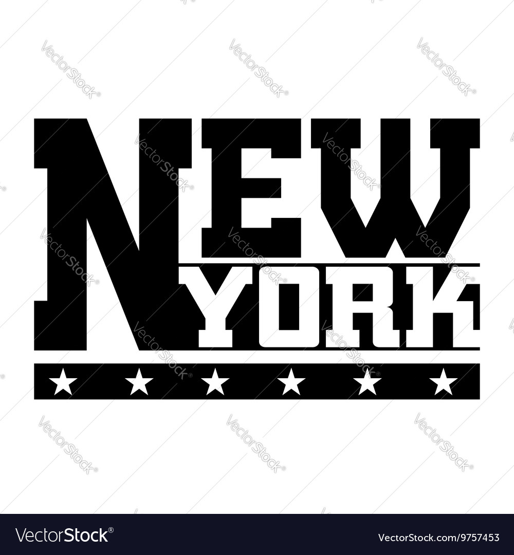 T shirt typography graphics New York vector image
