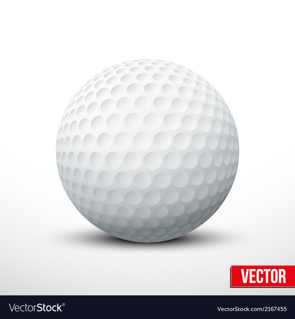 Golf ball isolated on white with clipping path vector image