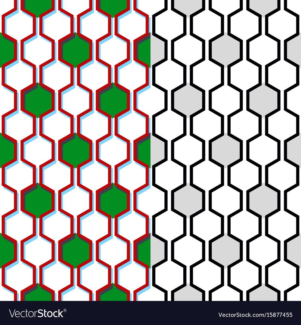 seamless honeycomb pattern geometric background vector image rh vectorstock com honeycomb vector art honeycomb vector black and white