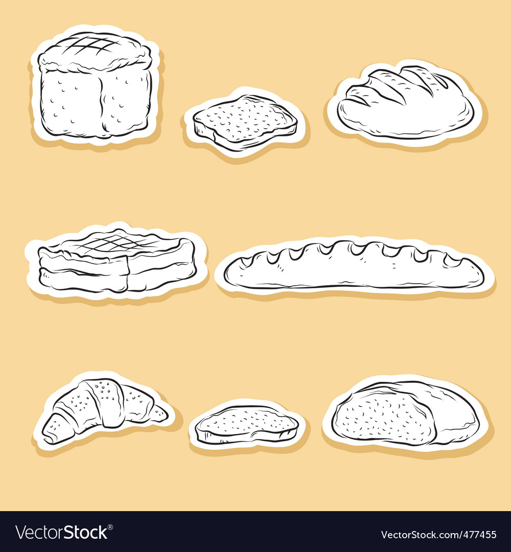 Set of bread v vector image