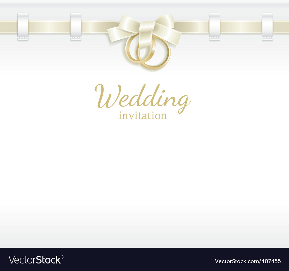 Wedding header vector image