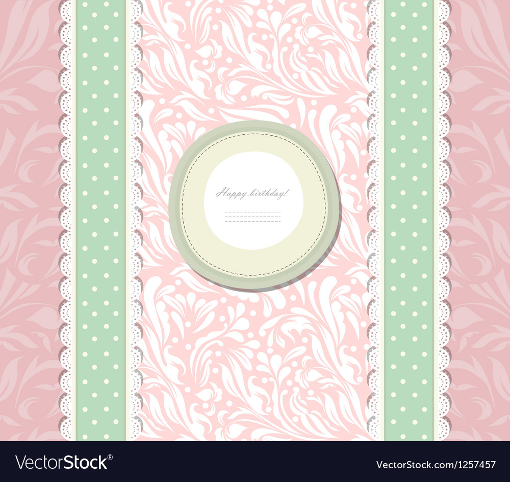 Vintage background for invitation card vector image