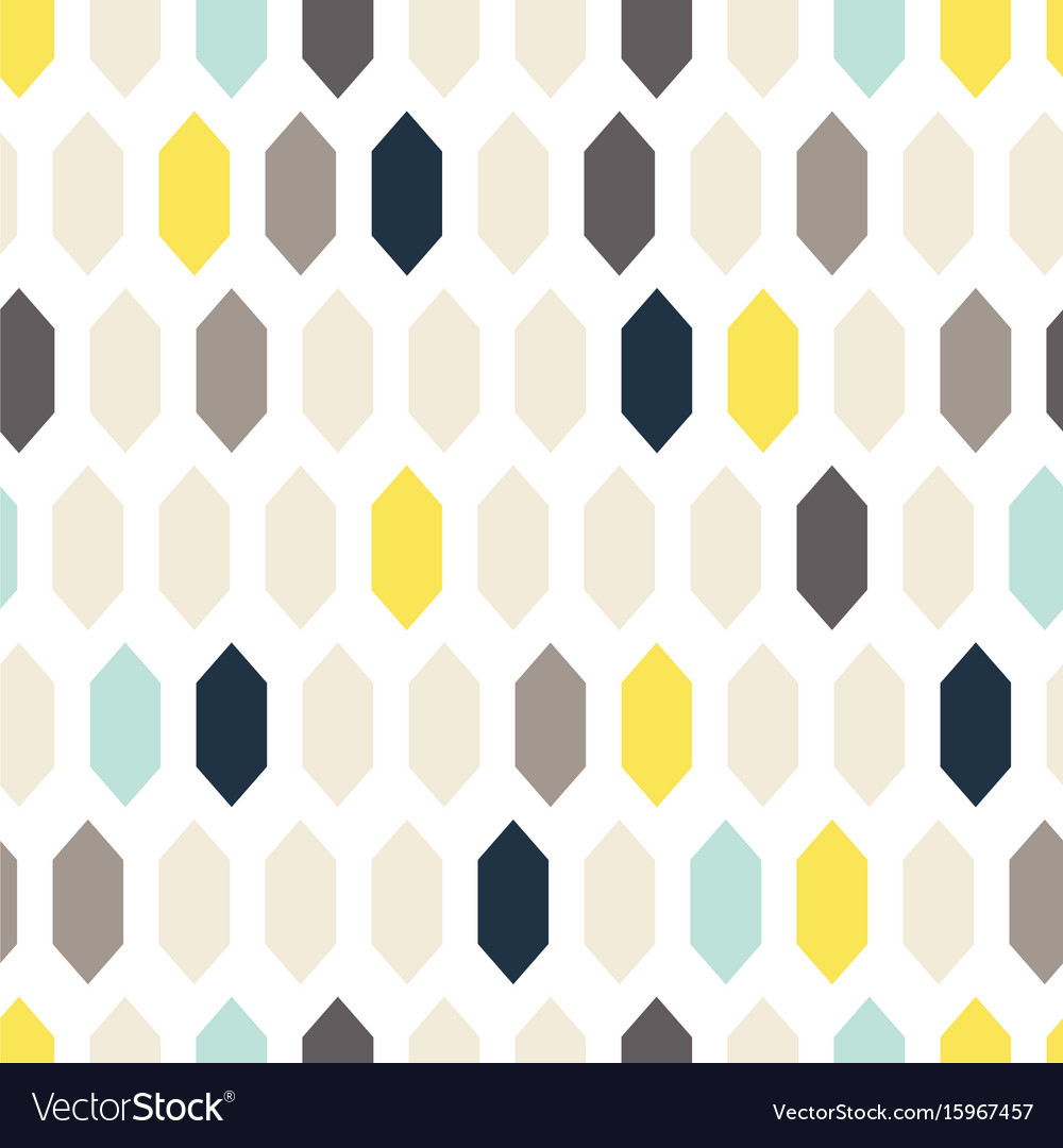Mosaic tiles seamless pattern vector image