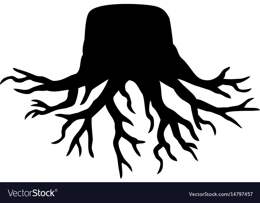 old tree stump with roots royalty free vector image family tree clipart free download family tree clipart free typeable