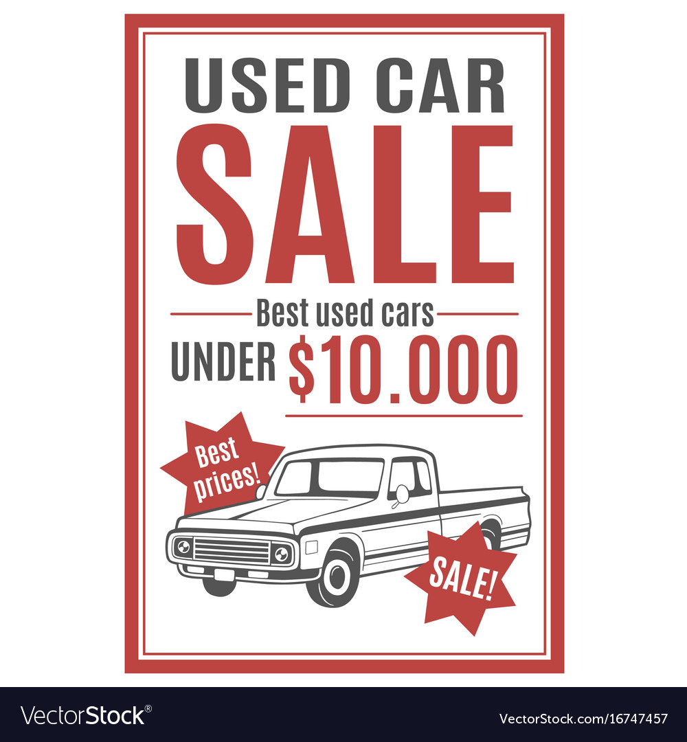used car ad template