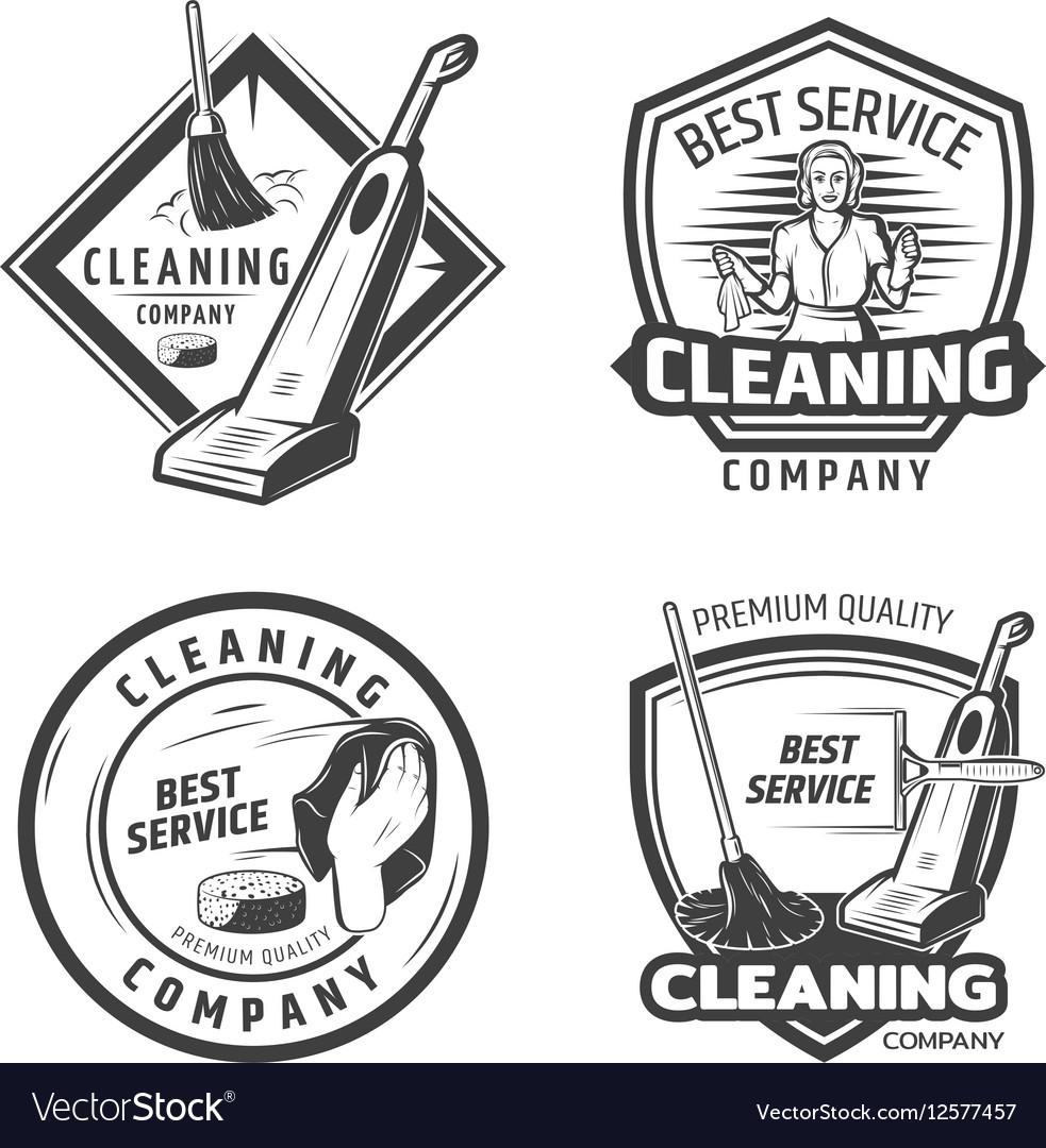Vintage Sanitation Emblems vector image