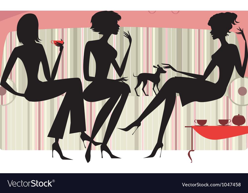 Talking women vector image