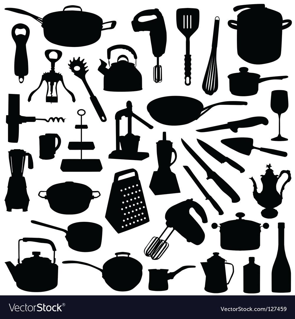 kitchen tools royalty free vector image - vectorstock